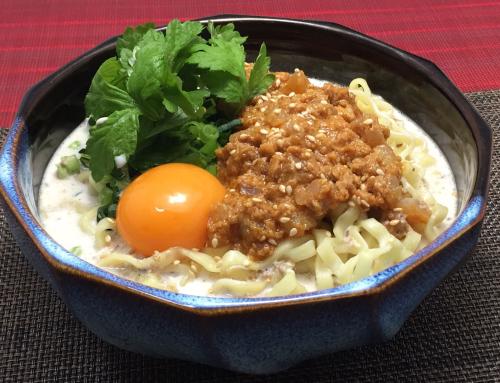 力飯(辛さマシマシ)沖縄そば麺の担々麺