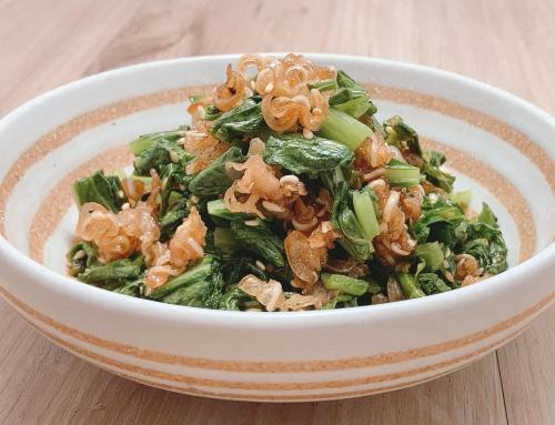 ミミガージャーキーのチキナー(からし菜)炒め&混ぜご飯